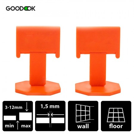 50 Wedges + 125  Clips Box Tile leveling system